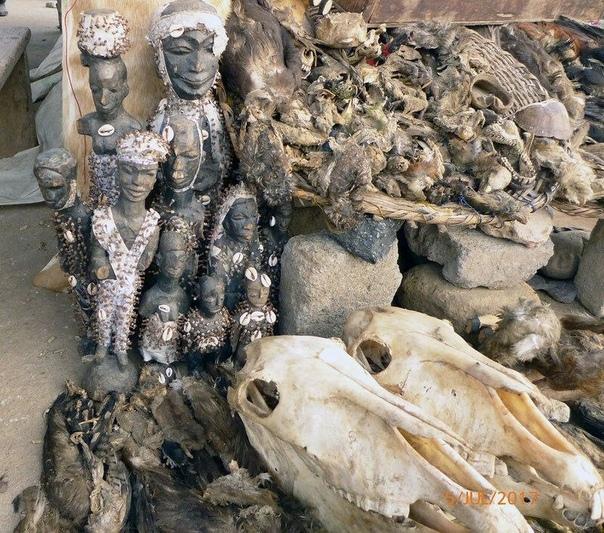 Крупнейший в мире рынок вуду. Того, Запападная Африка.