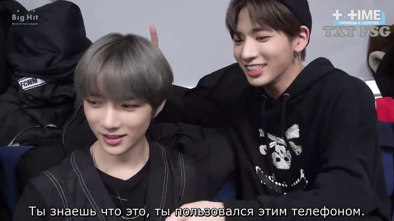 RUS SUB T:TIME Devil selfie shooting with TAEHYUN TXT