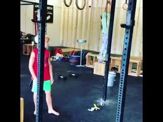 Ring muscle up on 7 years old