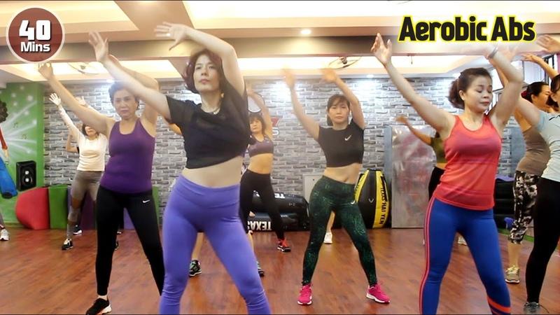 40 Menit Senam Aerobic Membakar lemak perut l Senam Aerobik untuk pemula l Aerobic Abs