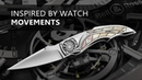 Tourbillon Knife By Corrado Moro Inspired by Haute Horology Watch Movements Complications