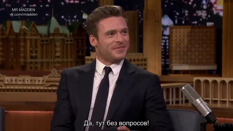 Richard Madden Teaches Jimmy Scottish Slang and Reflects on Game of Thrones русские субтитры