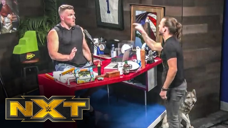 A look at Adam Cole and Pat McAfee's heated exchange WWE NXT July 29 2020