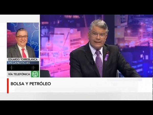 Entrevista con Eduardo Torreblanca sobre desplomes de precios del crudo y bolsas internacionales