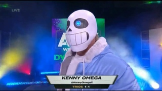 Kenny Omega Entrance as SANS from Undertale