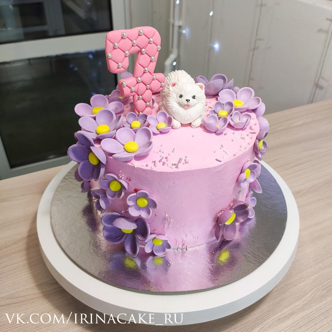 Торт для девочки с собачкой (Арт. 569)