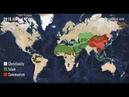 История Христианства за 1 минуту History of Christian on the map