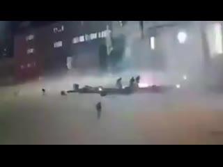 Момент удара по курсантам военного училища в Триполи. Ливия.