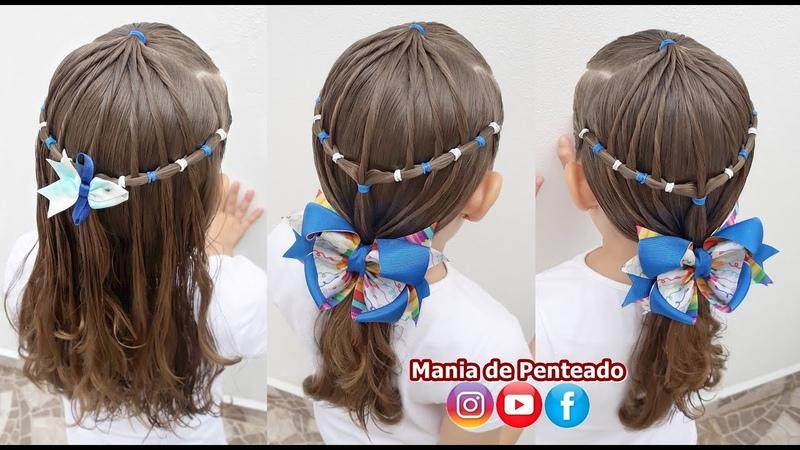 2 em 1 Penteados Fáceis para Meninas 🥰 2 in 1 Easy Hairstyles for Little Girls 🥰