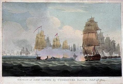 «Бой Данса»  история о том, как плохо вооруженные британские торговые корабли обратили в бегство французскую боевую эскадру