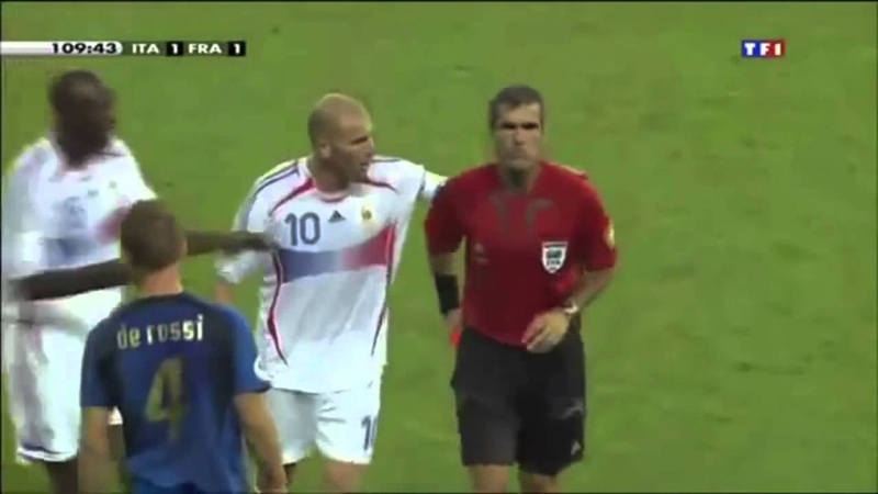 Zidane headbutting Materazzi World Cup Final