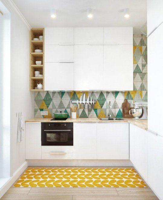 планировка угловой кухни до потолка