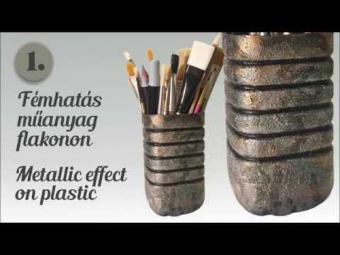 Recycling - Ecsettartó műanyag flakonból / Brush holder from plastic bottle