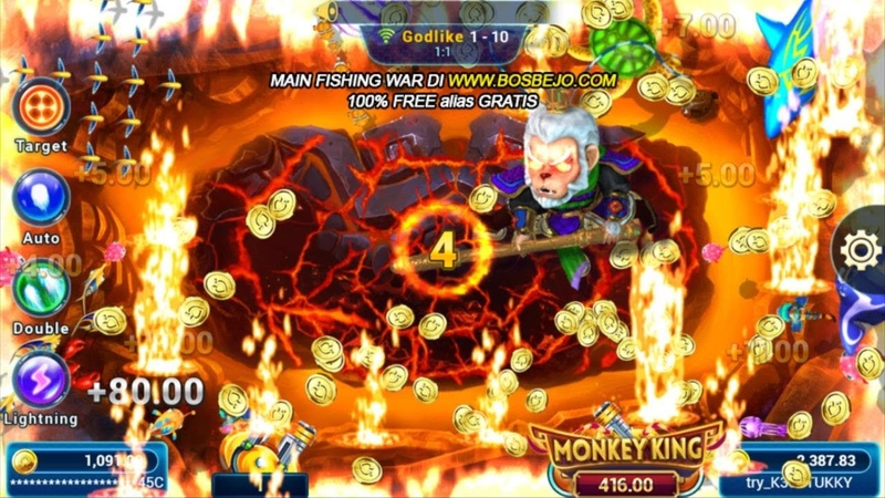 Game Online Tembak Ikan FISHING WAR Level Tertinggi GodLike BosBejo.com