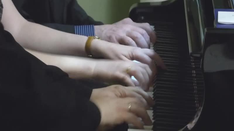 Максим Бирюков. На берегах Большого Ломовиса из цикла Пасторальные эскизы для фортепиано в 6 рук