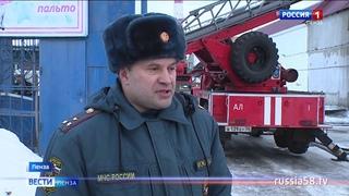 Сильный пожар на улице Калинина в Пензе тушили более 50 человек