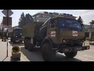 Ruski specijalisti dezinfikuju Zdravstveni centar u Vranju 23 04 2020