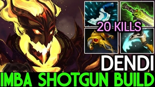 Dendi [Shadow Fiend] Imba ShotGun Build 20 Kills  Dota 2