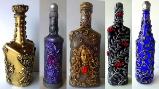 5 Bottle Decoration Ideas/ Bottle Art/ Decorate Wine Bottle