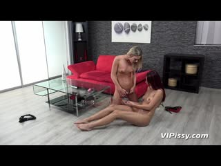 "Pissy claudia macc and paula shy ""playful piss spitting"""