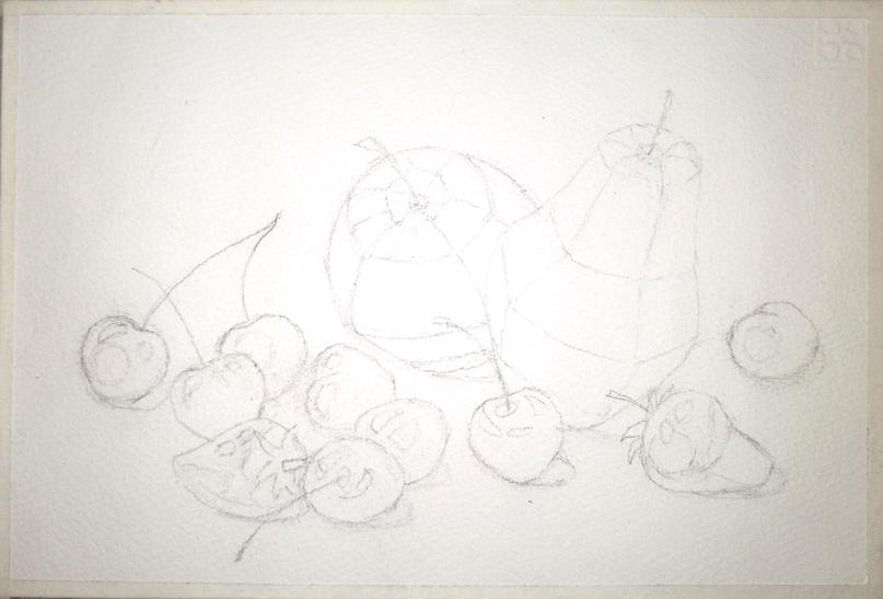 ОНЛАЙН-УРОК по рисованию «Клубника и черешня», изображение №5