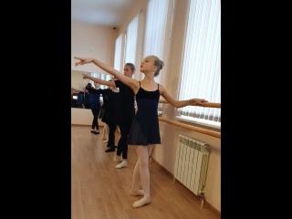 Красносельская балетная студия. Урок классики