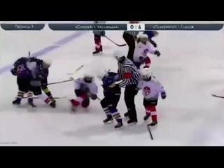 Во время матча между 9-летними хоккеистами из Татарстана (г.Мамадыш) и Удмуртии (г.Глазов) произошла массовая драка 👊🏻