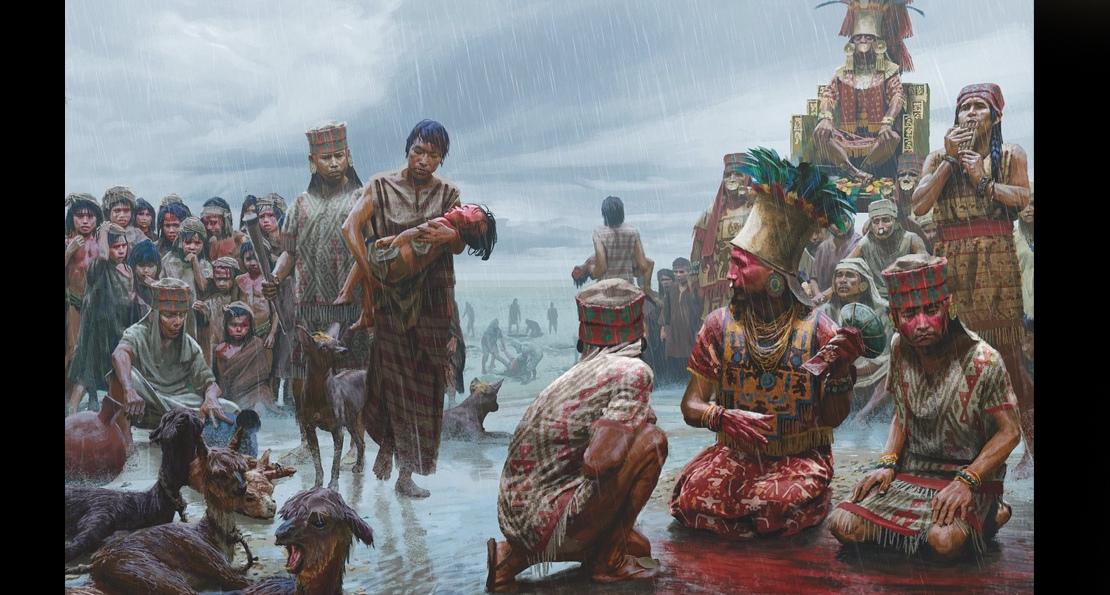 Кровь у храма