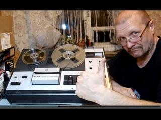 магнитофон Elfa 332 стерео 2 часть Ремонт электроники