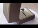 Лот 27. Кольцо с сапфиром3,90 карат и россыпью бриллиантов 0,13 карат белое золото