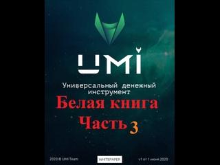Белая книга UMI для чего создана монета и если у неё подводные камни часть 3