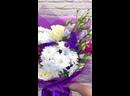Яркий букет цветов 🔥💐 Состав Роза Гвоздика Эустома Хризантема Статица 1600₽