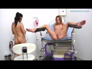 Gyno-X Laura & Leony 2 [Doctor, Anal checkup, Medical Fetish, Gyno Exam, Lesbian, Close Ups, Checkup with enema]