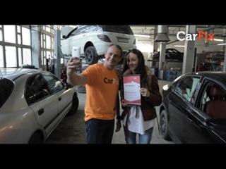 Основатель СarFix Оскар Хартманн поздравляет 20 000-го клиента