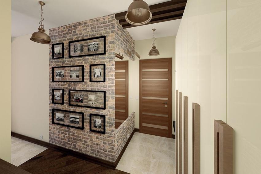 Проект студии 30,5 м в стиле лофт.