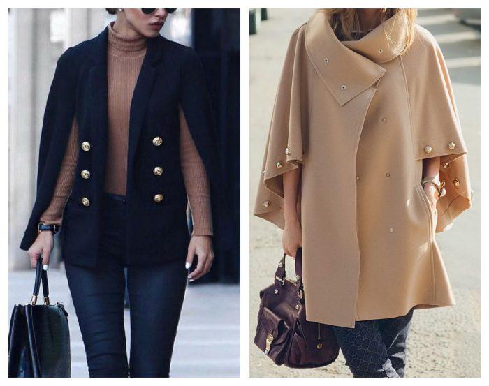 Ультрамодное пальто-кейп