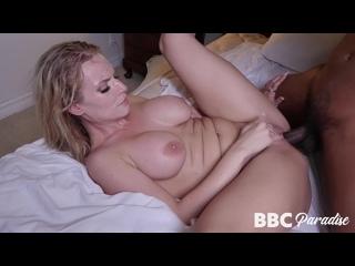 Rachael Cavalli, vollbusige, reife Blondine, Deepthroat BBC vor Bauchlage