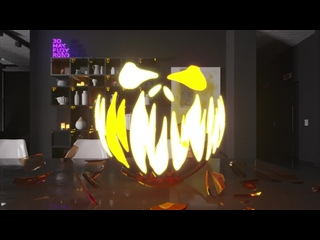 Mr Glass Pumpkin