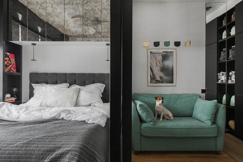 Фото и видео квартиры-студии 29 м в Москве с подробным рассказом о проекте дизайнера Екатерины Улановой.