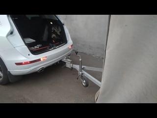 Audi Q5 Установка прицепного устройства с блоком управление прицепом Pandora