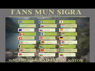 FANS MUN SIGRA SONG CONTEST, Edition 11, Montenegro. Grand Final, Kotor