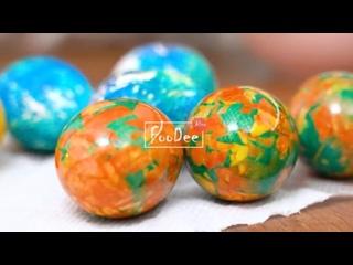 Как красиво и оригинально покрасить пасхальные яйца на Пасху 2021! Крашенки _ мраморные яйца (720p)