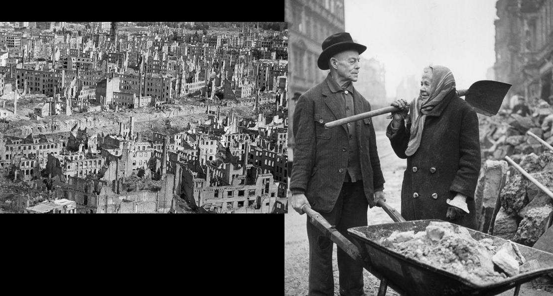 Немцы на восстановлении городов