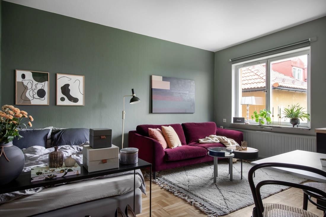 Интерьер малогабаритной шведской квартиры-студии 22 кв.