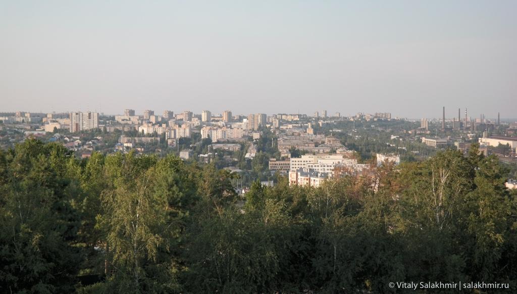 Панорама Волгограда от статуи Родина-мать зовет