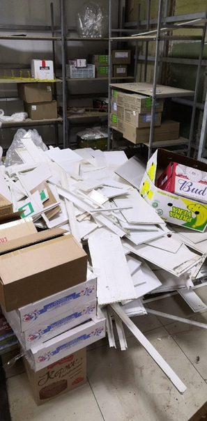 Выбросить демонтированые пластиковые панели. Время...