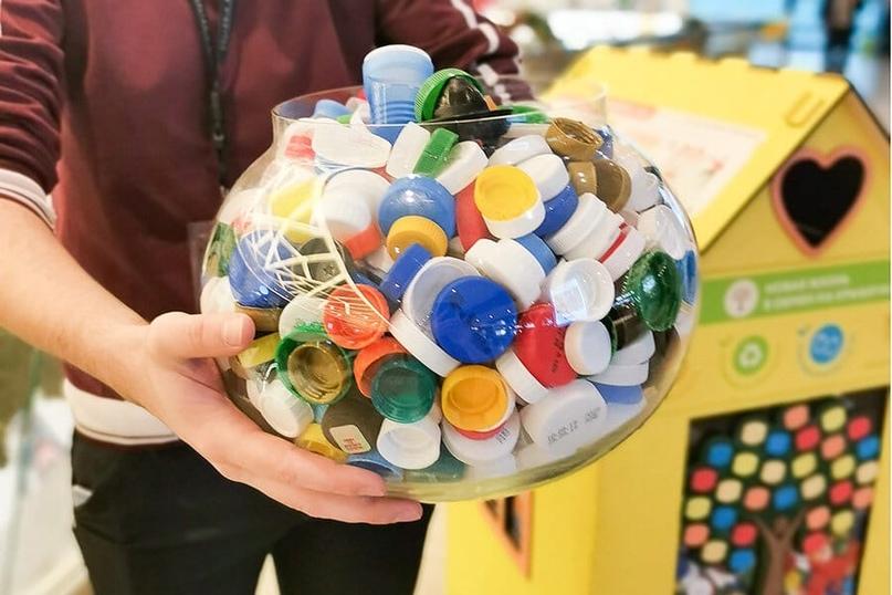 🌈  В Детском саду № 11 продолжается сбор пластиковых крышечек