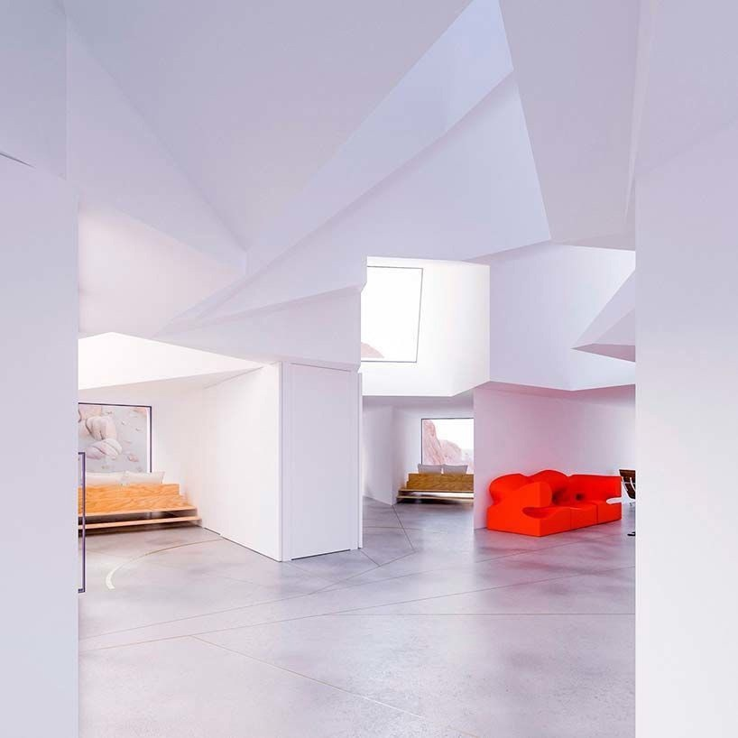 Белый дом из морских контейнеров от Whitaker Studio