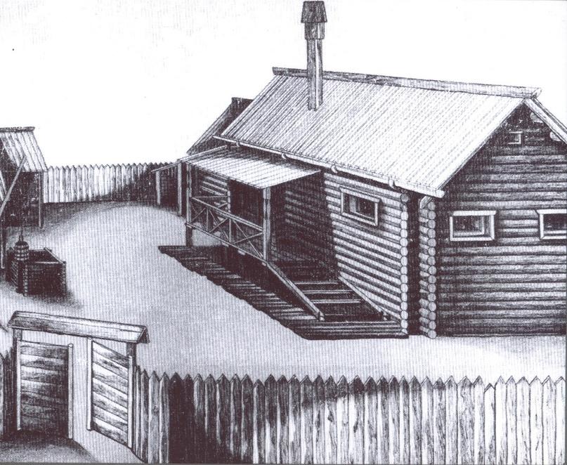 Конструкция дома, расположенного на Золотаревском городище