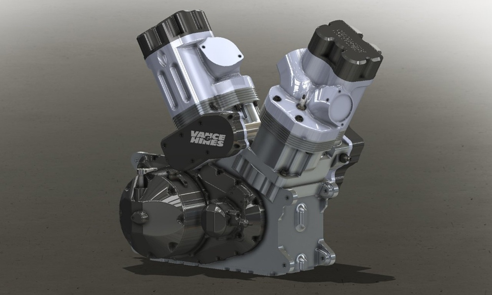 Двигатель Vance & Hines V-Twin для NHRA